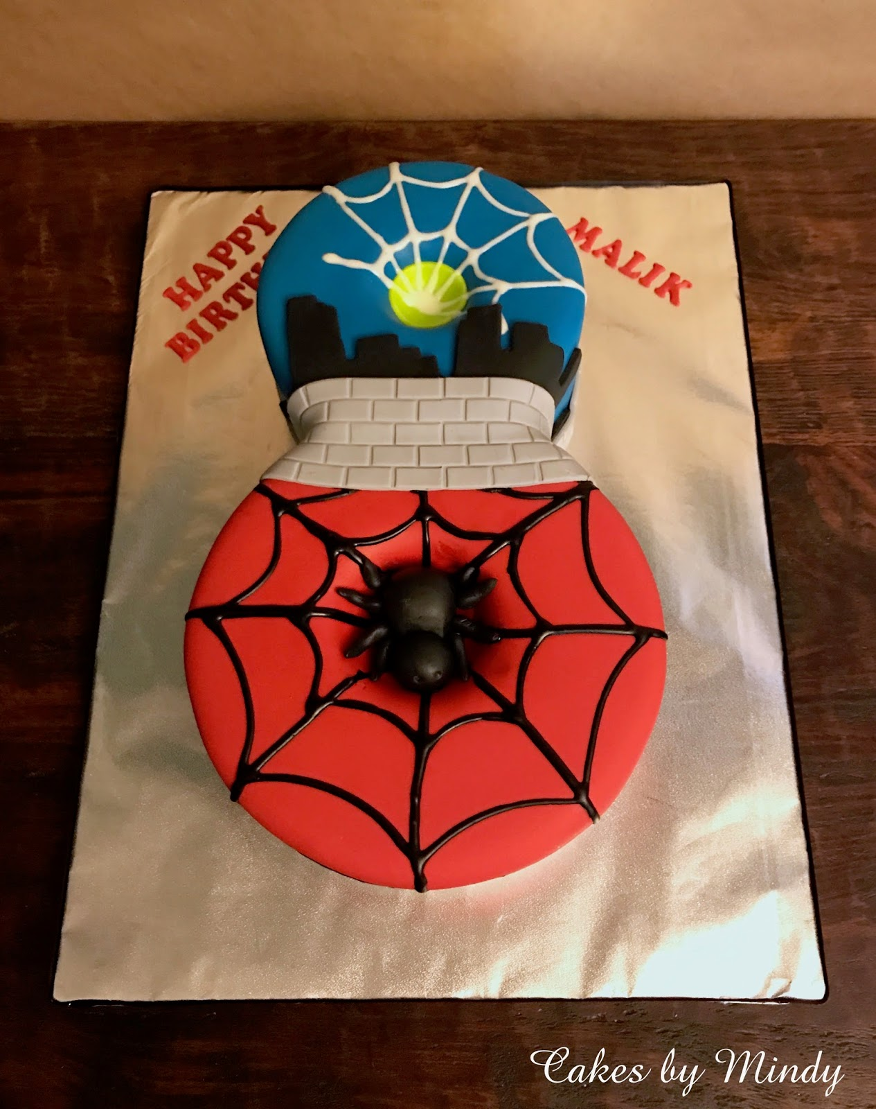 Marvelous Cakes By Mindy Spiderman 8Th Birthday Cake 6 8 Funny Birthday Cards Online Eattedamsfinfo