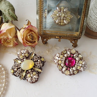 vintage jewelry, rhinestone jewelry, Marie Antoinette syle, rococo, baroque style, limited design