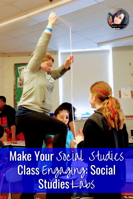 Make your social studies class engaging with social studies labs! #activities #socialstudies #typesofgovernment #earlyman #hominids #middleschool #elementaryschool
