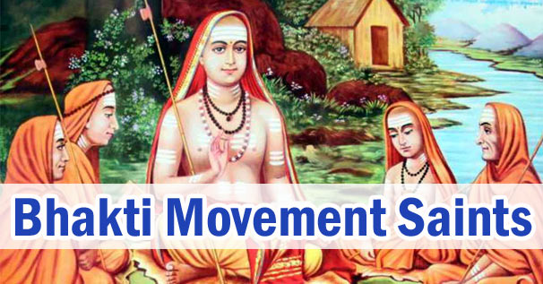 List of Saints and Teachers of Bhakti Movement in India