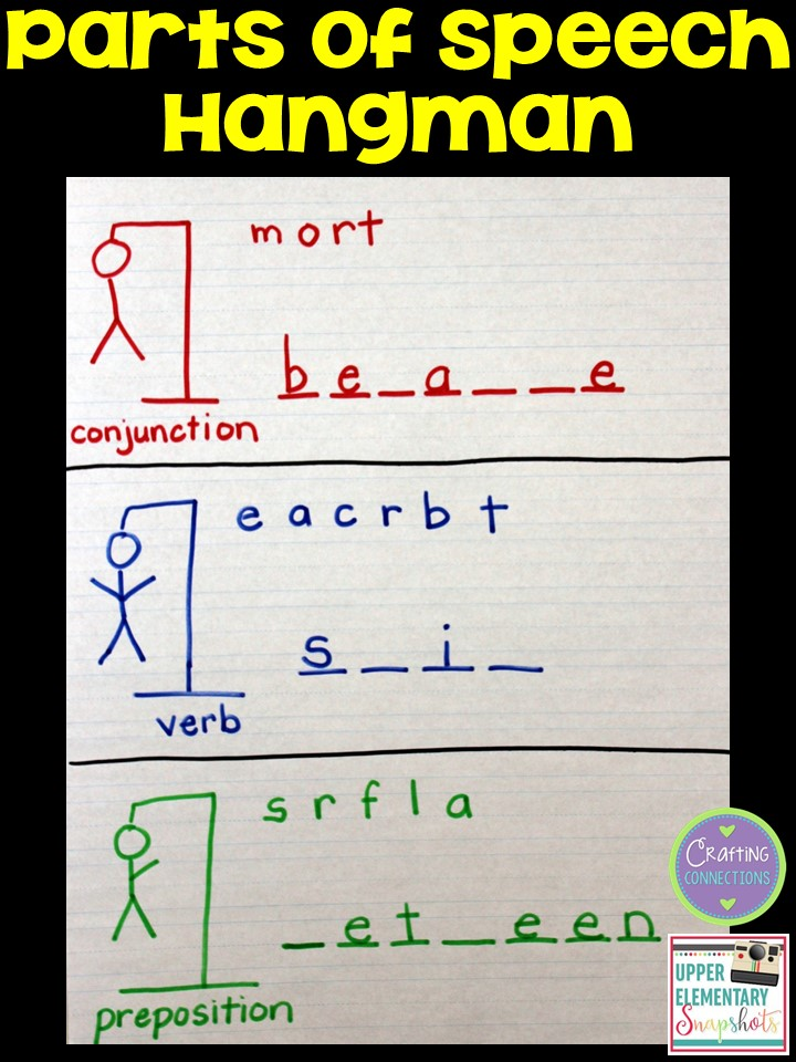 Upper Elementary Snapshots: Low-Prep Grammar Fun