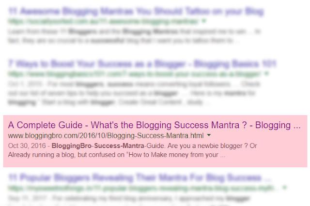 BloggingBro-SERP-listings