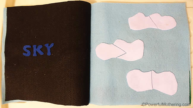 http://www.powerfulmothering.com/creation-sky-no-sew-quiet-book-for-toddlers/