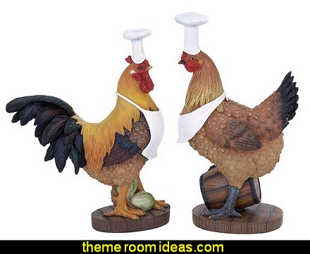 Decorative Rooster Chef at overstock Statues & Sculptures