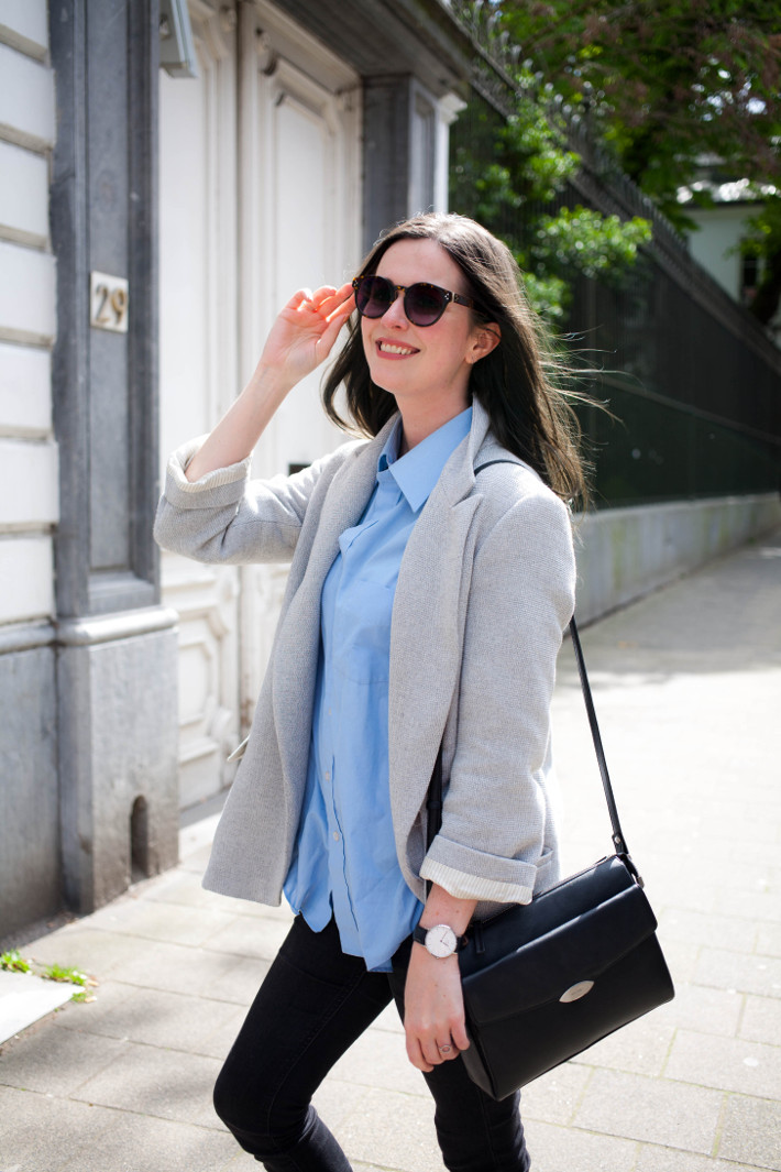 Outfit: preppy in oversized blazer