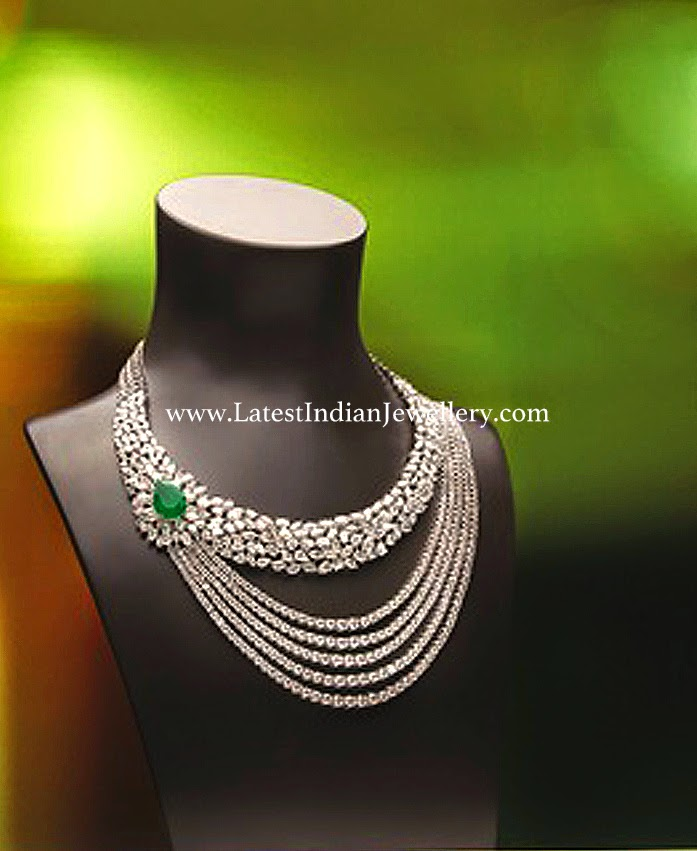 Diamond Necklace in Stylish Design
