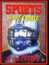 Sports Is The Opiate - Greeting Cards