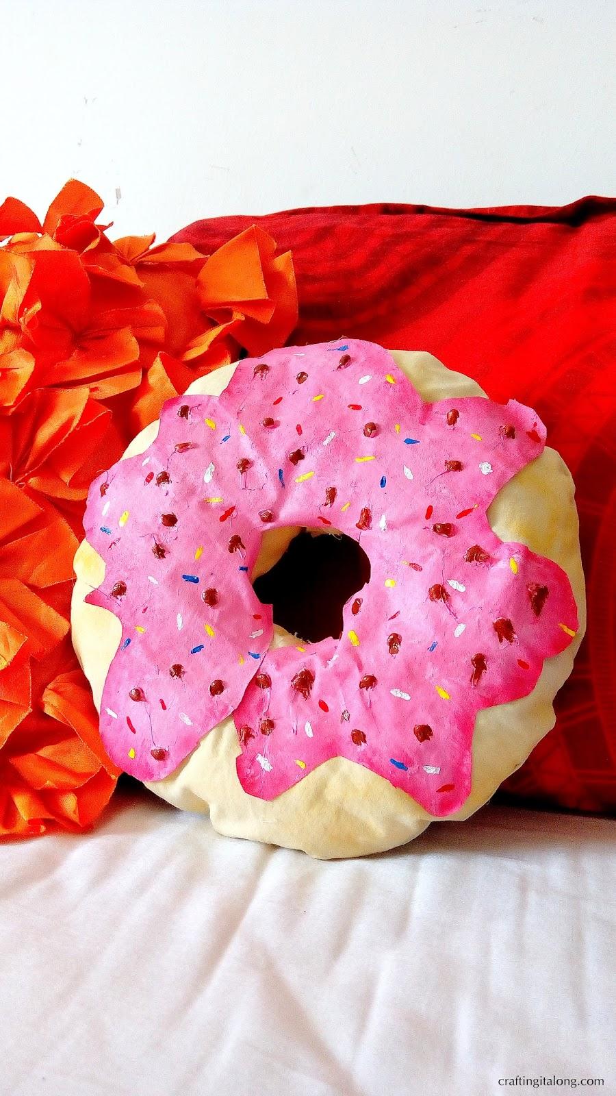 DIY Donut Pillow- No Sew & DIY Donut Pillow- No Sew ~ CRAFTING IT ALONG pillowsntoast.com