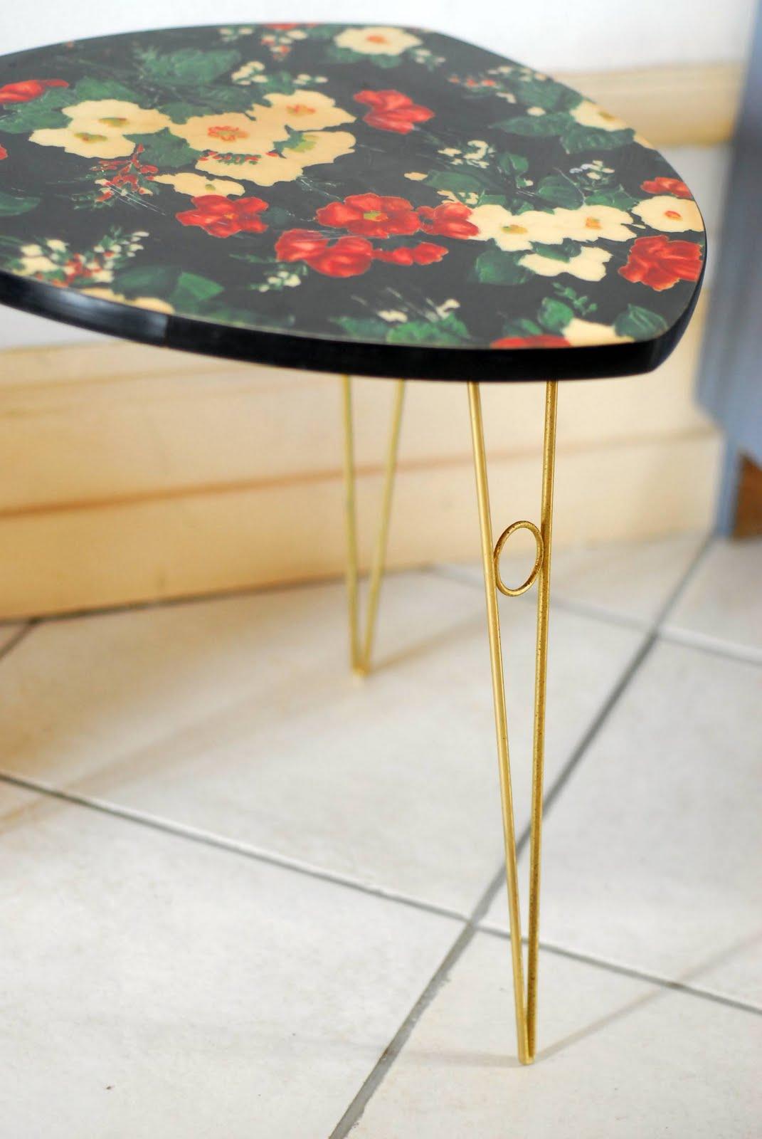 Table Basse En Formica vintage lovers: flowermica