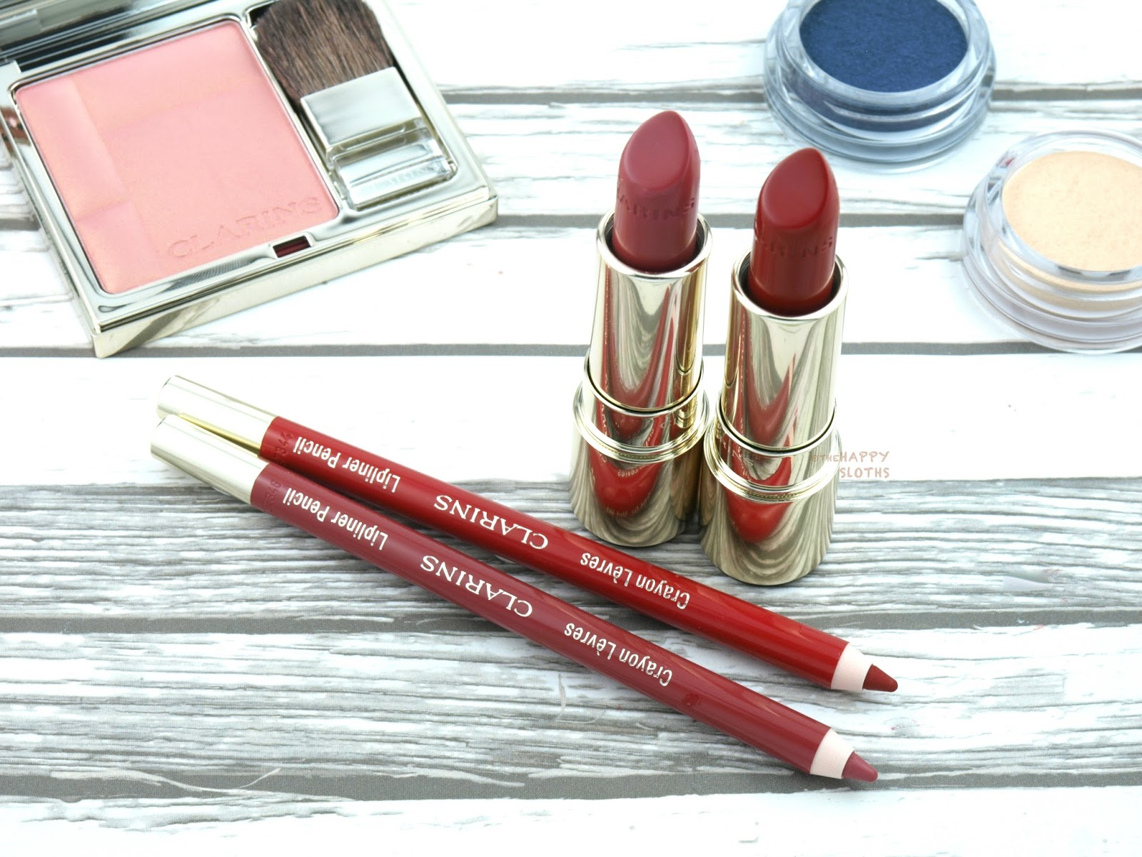 "Clarins Fall 2017 | Joli Rouge Lipstick in ""754 Deep Red"" & ""755 Litchi: Review and Swatches"