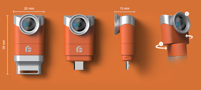 Eye-Plug, 3D, realidad virtual, gafas, fotografía, doble cámara, smartphone, eje pivotante, compatibilidad