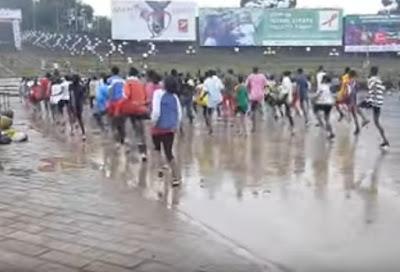 Atletas da Etiópia a Treinar Técnica de Corrida - Segredos
