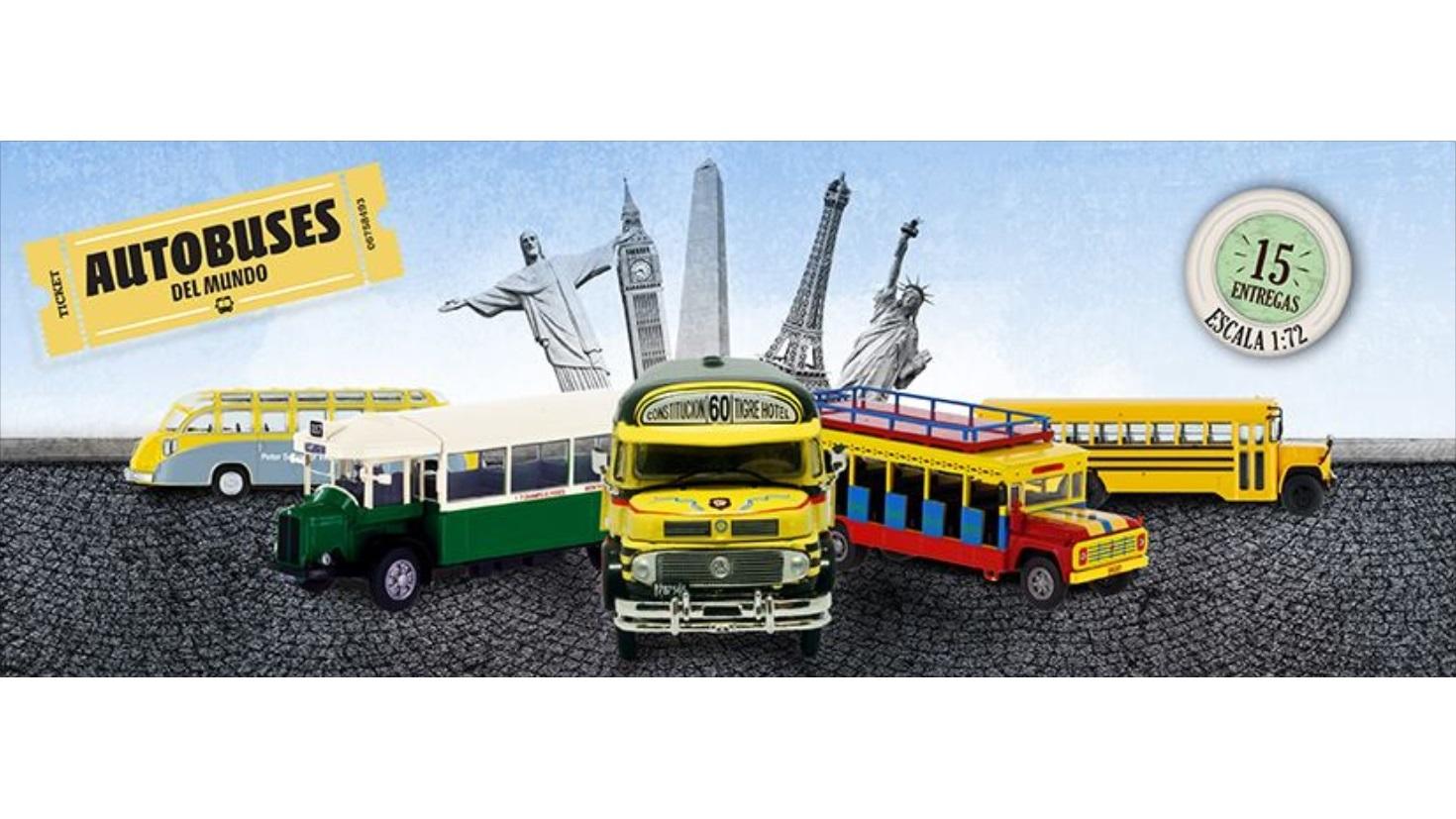 Colecci n autobuses del mundo 1 72 runsun en argentina for Coleccion cuchillos el mundo