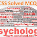 CSS Solved Psychology MCQs