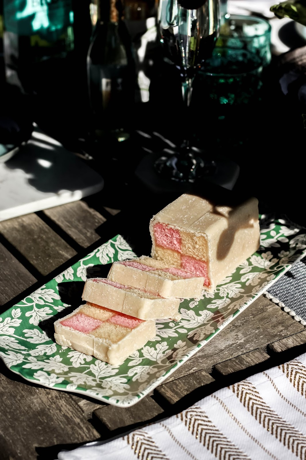Pretty Battenberg Cake Photography