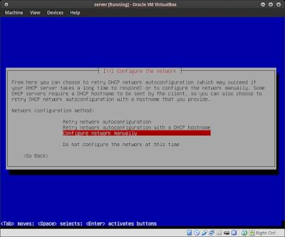 """Configure Network Manually"""