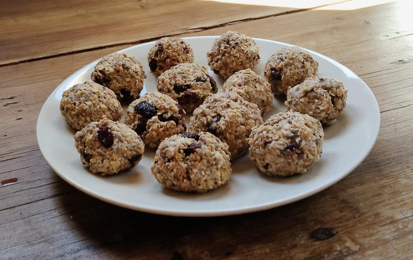 Snack sanos: Bolas de avena y frutos secos