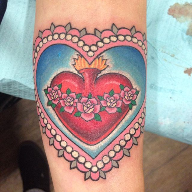 beautiful heart tattoo-9