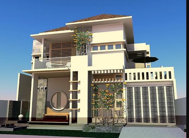 gambar rumah minimalis modern 2 lantai type 21