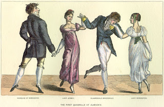 The first quadrille at Almack's  from The Reminiscences and Recollections of Captain Gronow (1850)
