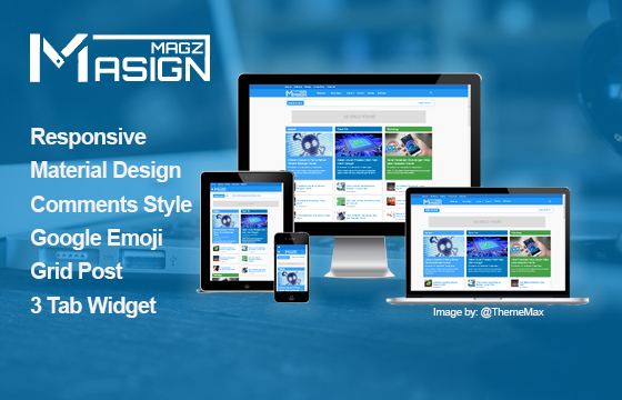 Free Download Masign Magz Material Design Blogger Template