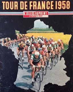 Des bordures de cyclistes, Tour de France 1958.