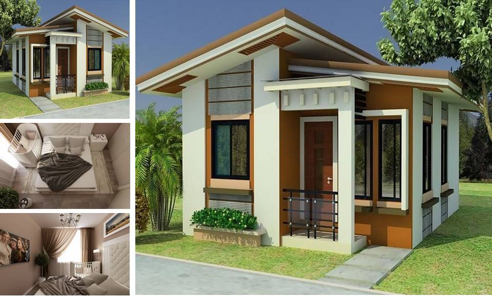 MODERN SMALL CLASSIC HOUSE DESIGN WITH 3 BEDROOMS & 1 ...