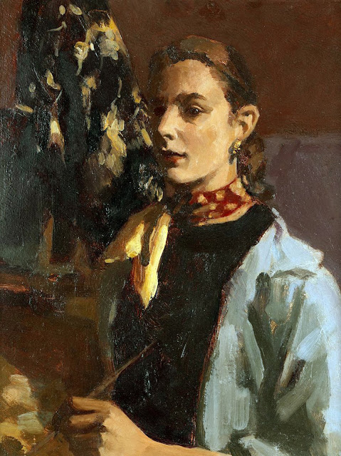 Janet Dawson, Self Portrait, Portraits of Painters, Fine arts, Portraits of painters blog, Paintings of Janet Dawson, Painter Janet Dawson