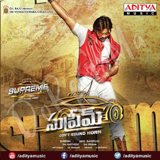 Sai Dharam Tej Rashi Khanna supreme Movie Poster Wallpaper Cd front Cover