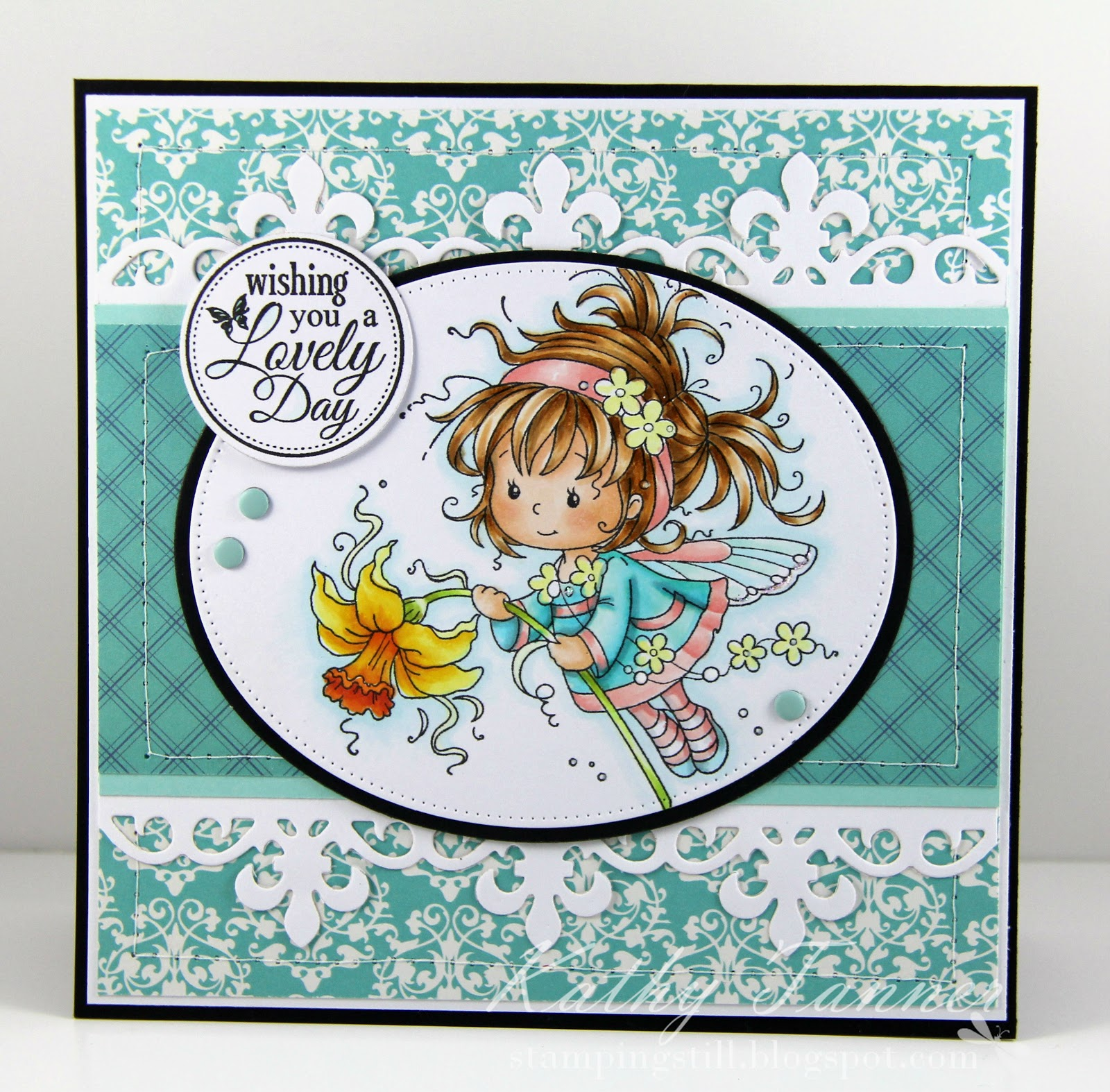 Daphne, Whimsy Stamps, Fluttering By