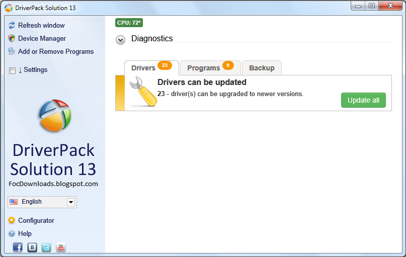 DriverPack Solution 13 Lite All in One - Free Of Cost Downloads