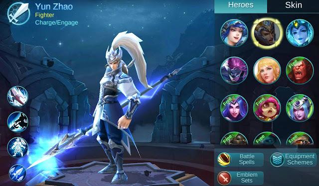 Yun Zhao Hero Terbaik Mobile Legends
