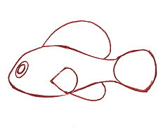 cara+menggambar+ikan