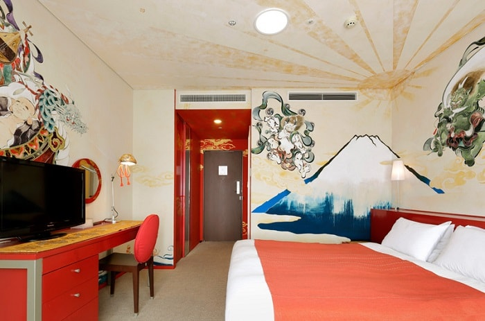 "No. 30 – Park Hotel Tokyo Artist Room Artist Room ""Mount Fuji"" designed by Shiki Taira"