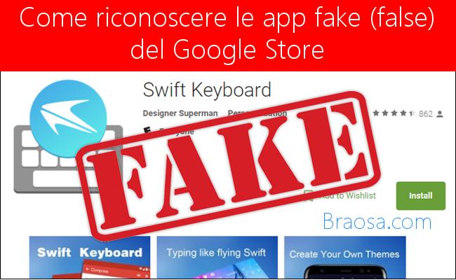 Come riconoscere le app Andrid false e fake presenti sull'app store di Google