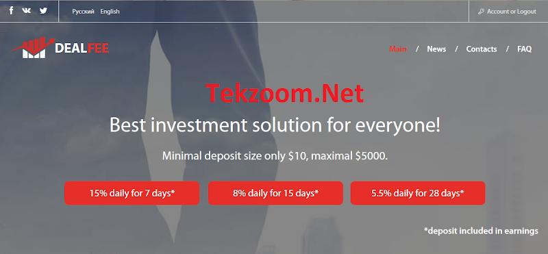 [SCAM] [DealFee.Net][05/10/2016] HYIP - PAY - Lãi 5.5% - 15% hằng ngày - Min Dep 10$ - Min Pay 0.5$ - Thanh toán Manual