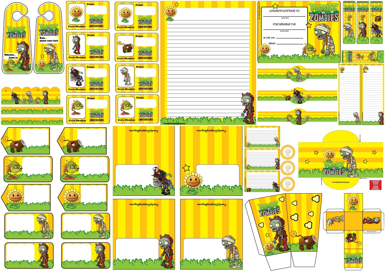 Plants Vs Zombies Free Printables Oh My Fiesta For Geeks