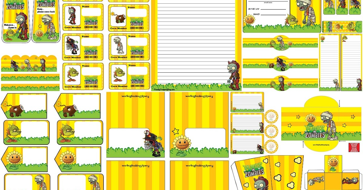 Plants Vs Zombies Free Printables.