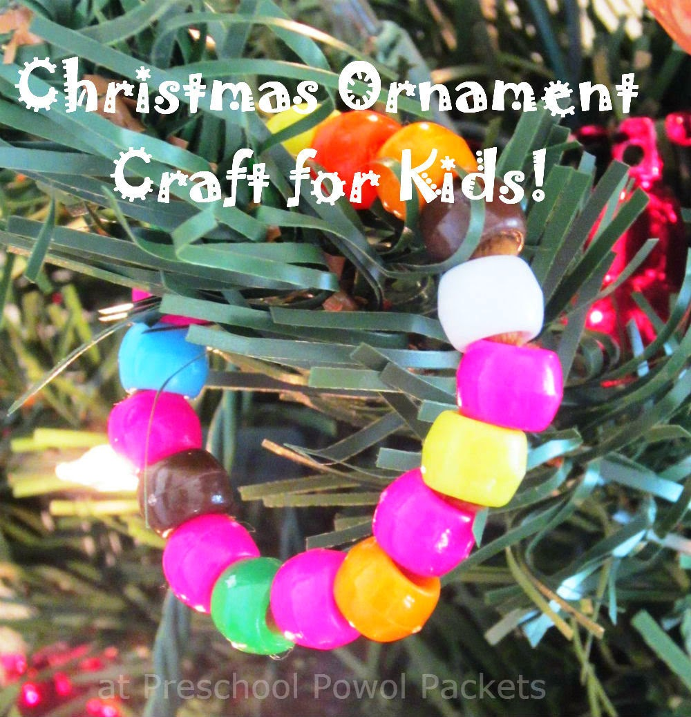 Easy Christmas Ornament Preschool Craft