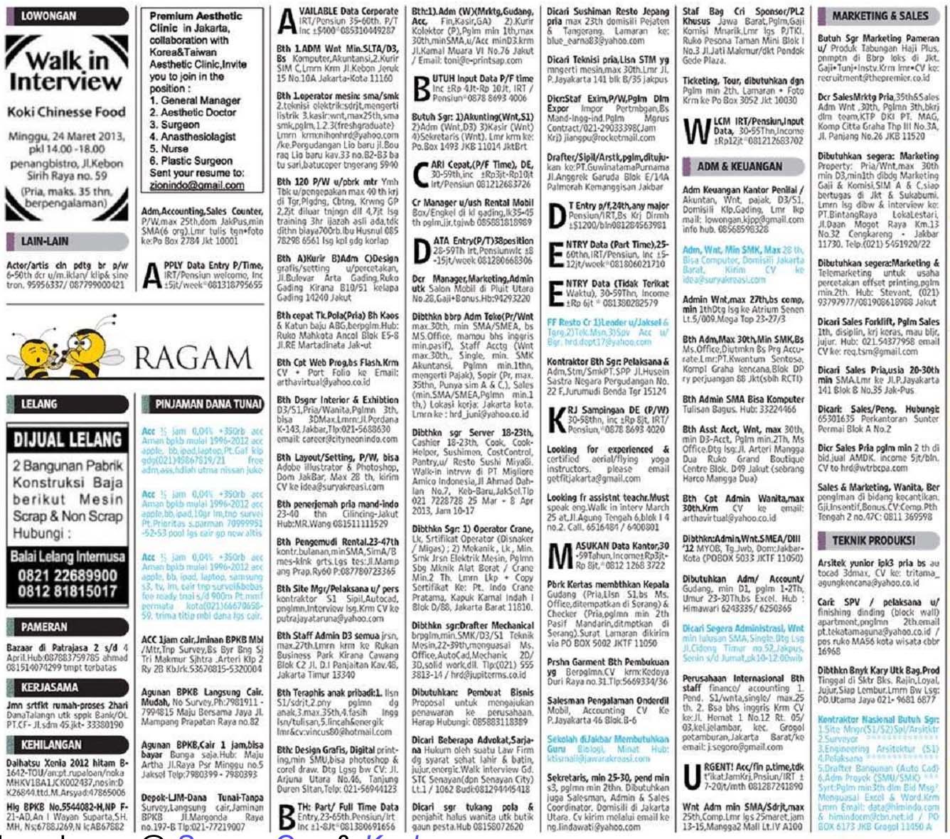 Lowongan Kerja Perawat Depok Maret 2013 Info Terbaru 2016 Info Harian Terbaru Berikut Lowongan Kerja Yang Dimuat Di Koran Kompas Senin Selasa Rabu