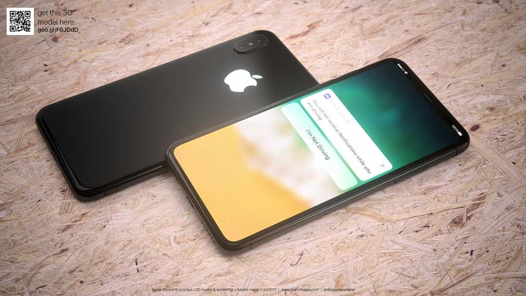 Martin Hajek, a famous leaker shows the beautiful images of 3D iPhone 8 leaked in white and black color.