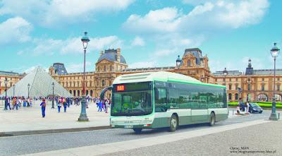 Wizualizacja - MAN Lion's City Hybrid w Paryżu