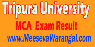 Tripura University MCA VI Sem 2016 Exam Result