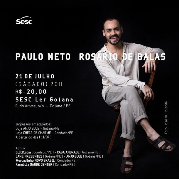 Sesc Ler Goiana promove show com Paulo Neto no próximo dia 21