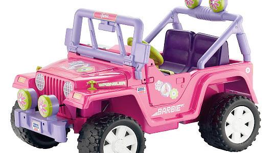 Pink electric barbie jeep #3