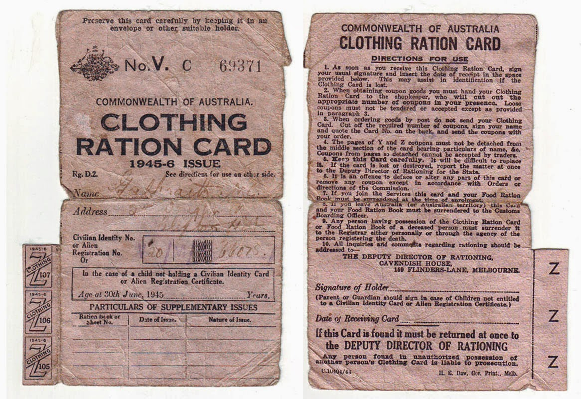 A Bit Of Everything Rationing Of Clothing During The