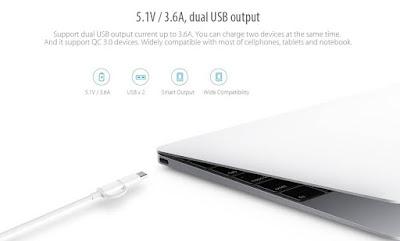 รีวิว Xiaomi Power bank แบตสำรองรุ่น v.2 Quick Charge 3.0