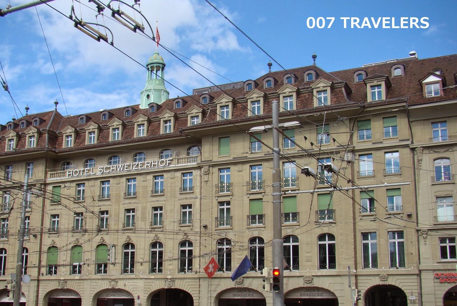 Later we entered fabulous hotel schweizerhof bern