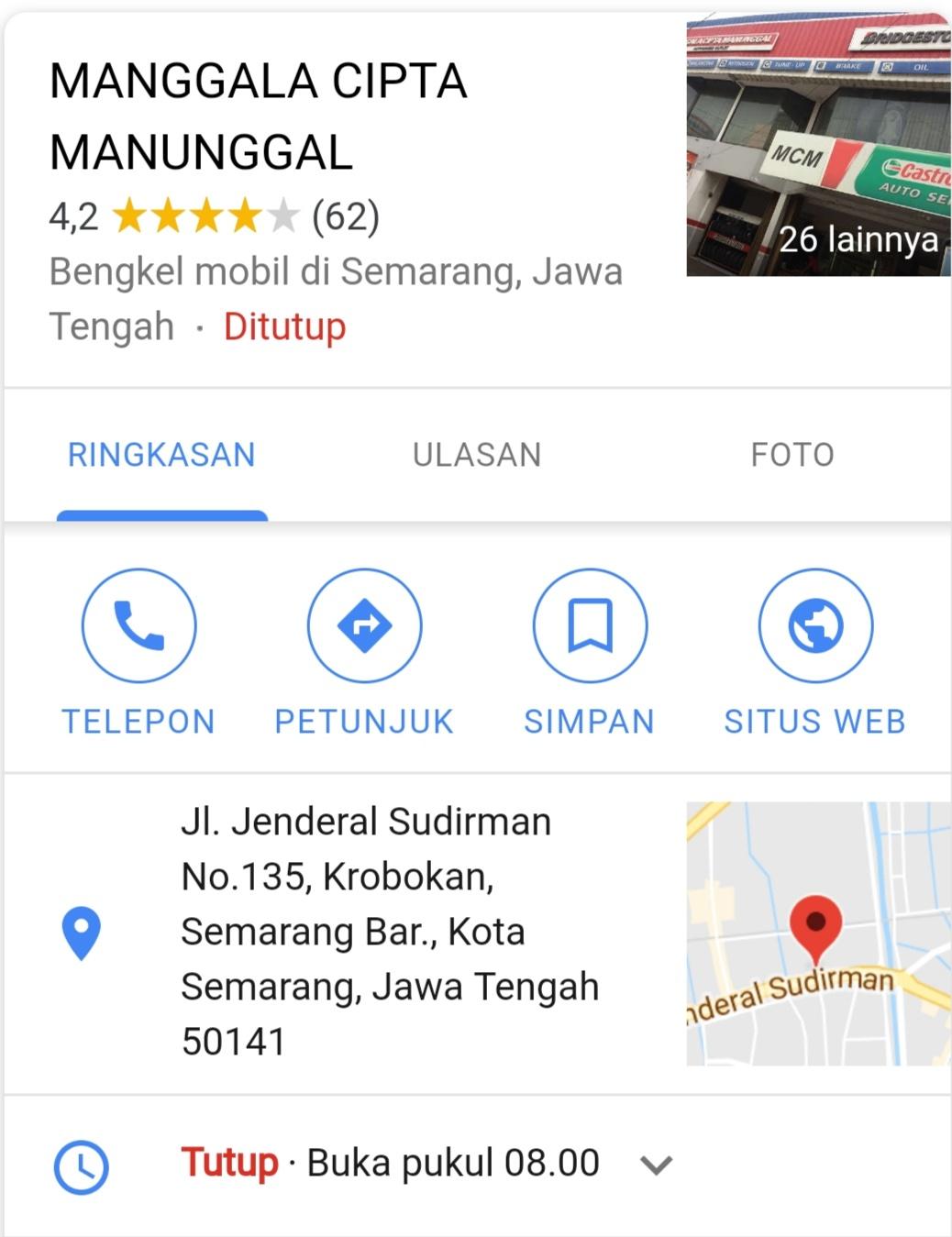 Alamat Perusahaan Manggala Cipta Manunggal Semarang