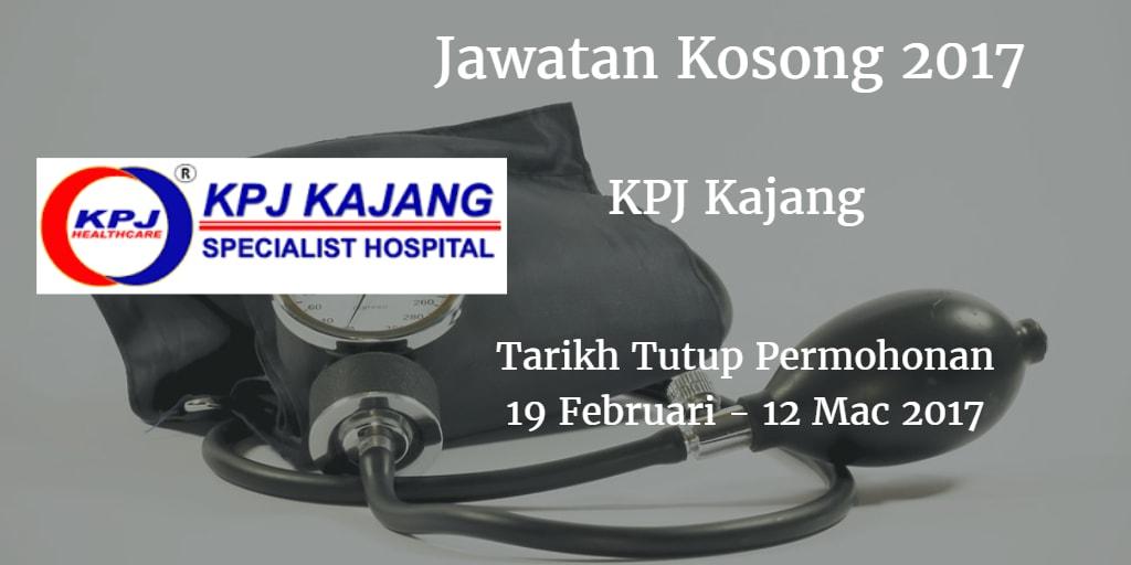 Jawatan Kosong KPJ Kajang 19 Februari - 12 Mac 2017